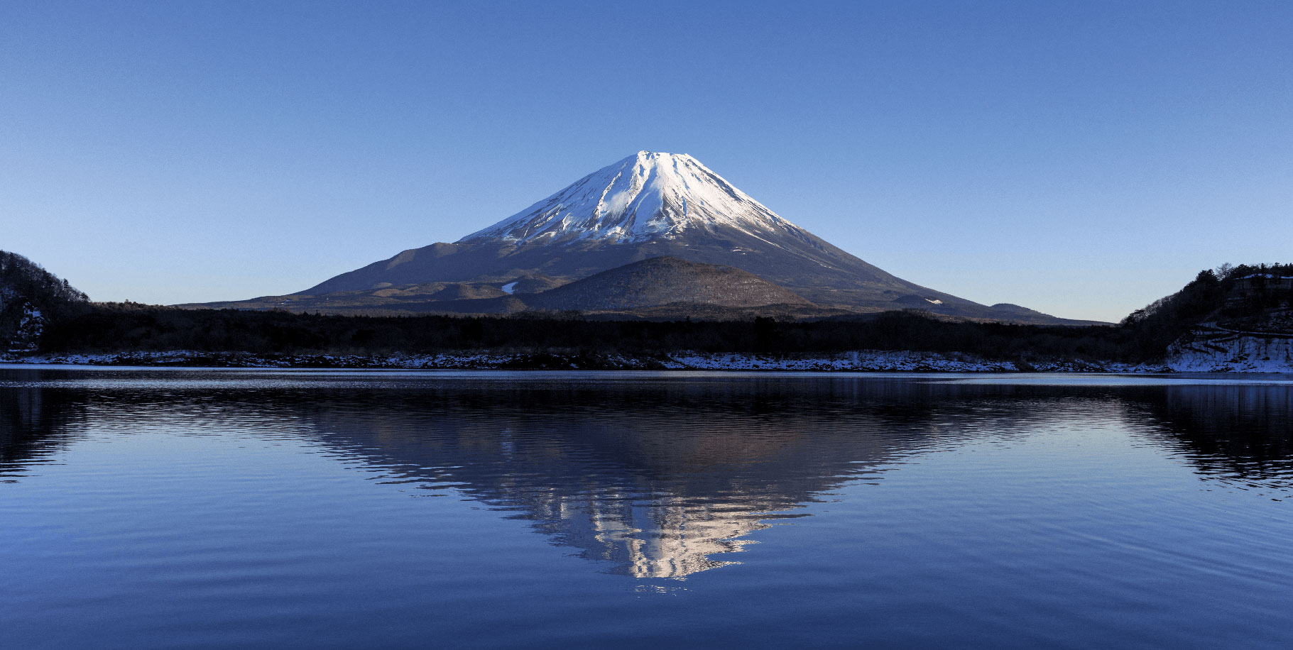 Image banner of FujiMAC with mountain and lake