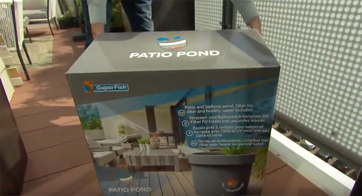 Video Thumnbail of the SuperFish Patio Pond on SBS 6 De Grote Tuinverbouwing